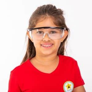 משקפי מגן לניסויי מעבדה